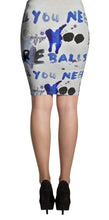 Load image into Gallery viewer, Luanne May All you need are balls all-over pencil skirt