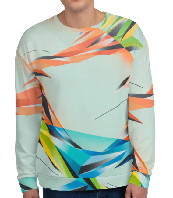 #ArtIt- urban artwear making streetwear out of contemporary art: Adrian Platkovsky print on demand sweatshirt