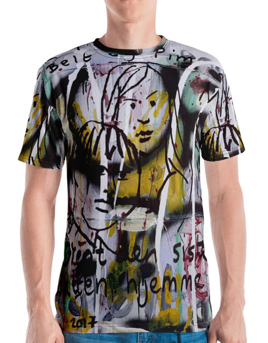 #ArtIt- urban artwear making streetwear out of contemporary art: Luanne May all over print t-shirt delivered on demand