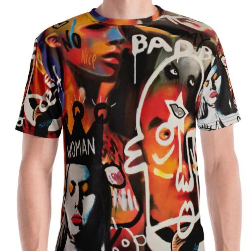 #ArtIt- urban artwear making streetwear out of contemporary art: Mr. Kling all over print t-shirt delivered on demand
