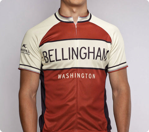 Bellingham Classic Racer Cycling Jersey Mens Burnt Red front