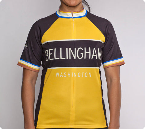 Bellingham Classic Racer Cycling Jersey Womens Yellow front