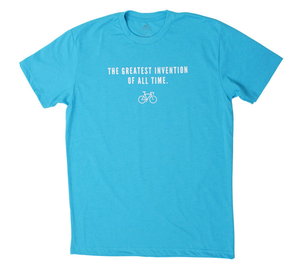 Bike Greatest Invention Beach Blue Mens Short Sleeve T-shirt front