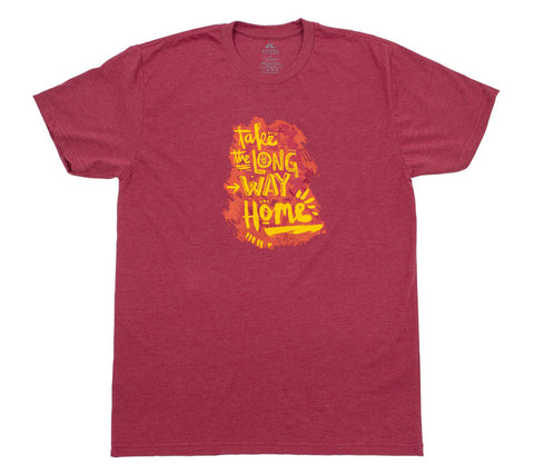 Bike Take the Long Way Home - Cardinal T - Men's Short Sleeve T-shirt - front