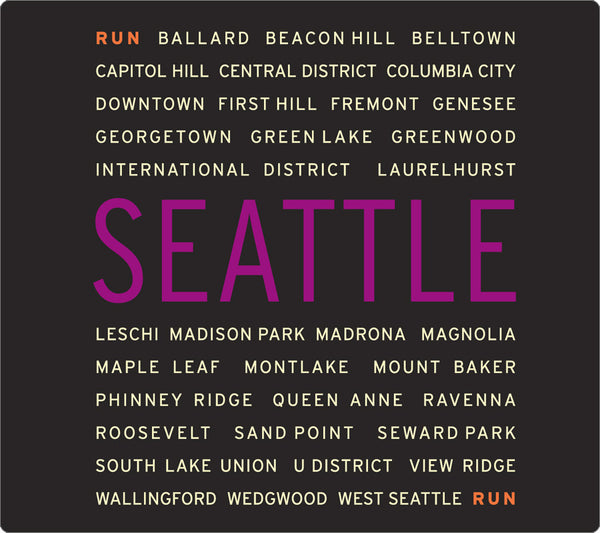 Black RSR Circle - Run Seattle Run - Women's Short Sleeve Top back detail