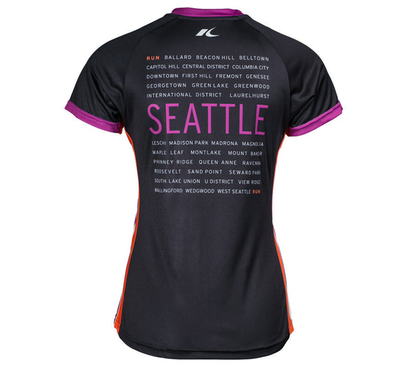 Black RSR Circle - Run Seattle Run - Women's Short Sleeve Top back