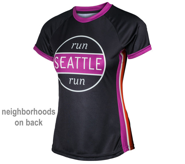 Black RSR Circle - Run Seattle Run - Women's Short Sleeve Top front