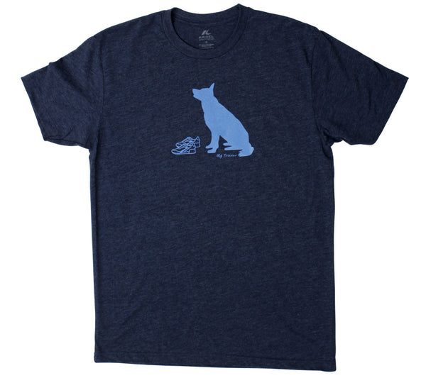Dog Training Run Navy Blue Mens Short Sleeve T-shirt front