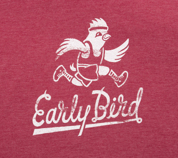 Early Bird Runner - Cardinal Red T - Men's Short Sleeve T-shirt closeup