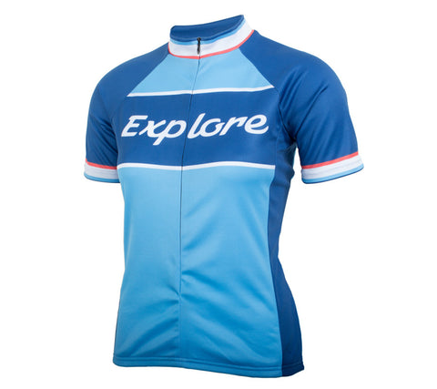 Explore Classic Racer Cycling Jersey - Women's Blue - front