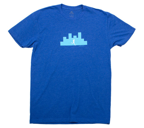 Happy Hour City Run - Royal T - Men's Short Sleeve T-shirt Front
