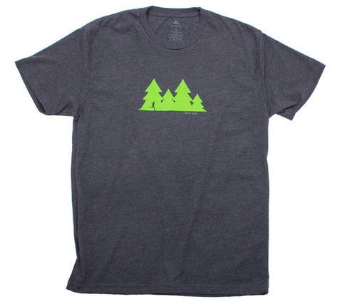 Happy Hour Trail Run - Charcoal T - Men's Short Sleeve T-shirt front