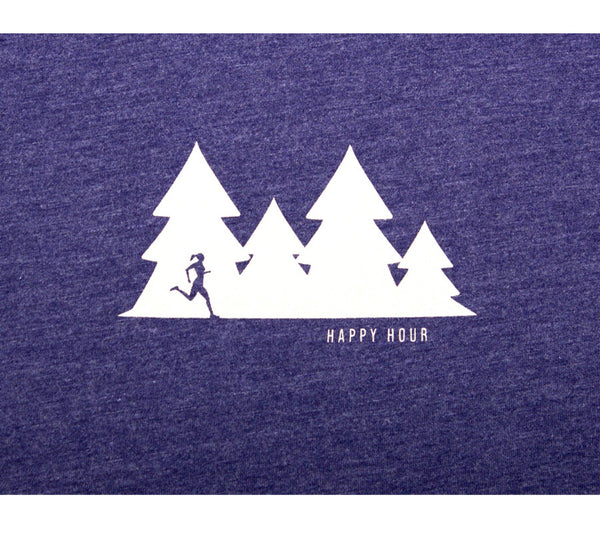 Happy Hour Trail Run - Storm T - Women's Short Sleeve T-shirt Closeup