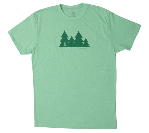 Happy Hour Trail Run - Light Green T - Men's Short Sleeve T-shirt front