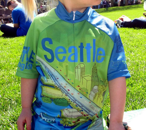 Seattle Space Needle Cycling Jersey - Larry Gets Lost - Kids Toddler