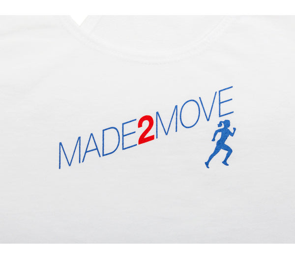 Made2Move - White Tank - Women's Terry Racerback Tank Closeup