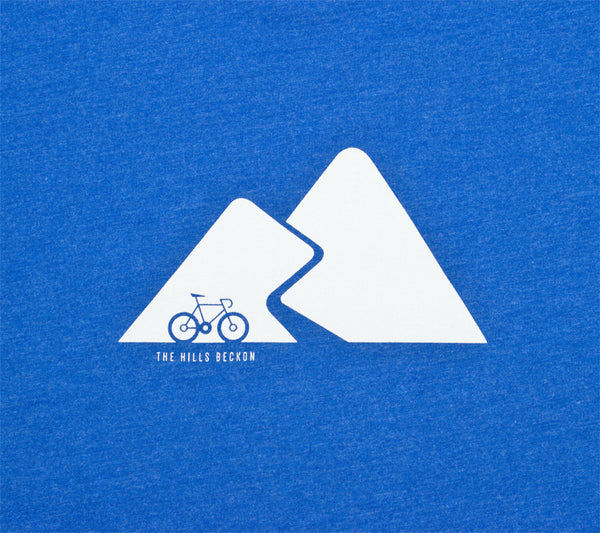 Mountain Pass Cyclist - Men Short Sleeve T-shirt closeup