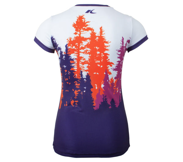 Purple Trees  - Women's Short Sleeve Top - back