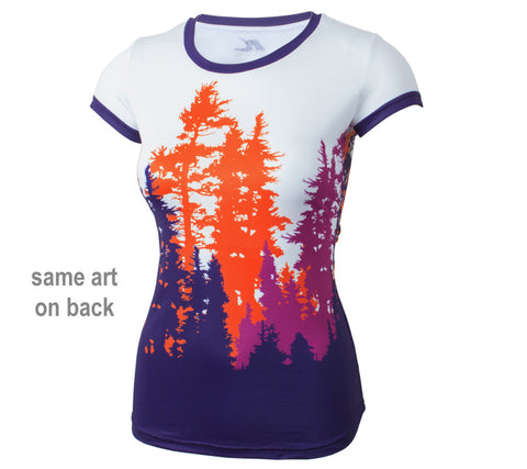 Purple Trees  - Women's Short Sleeve Top - front