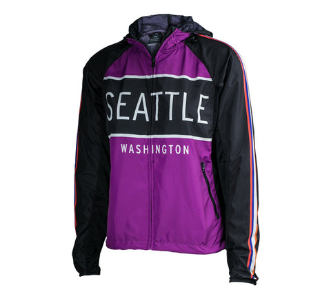Purple with black - Run Seattle Run - Women's Running Wind Jacket front
