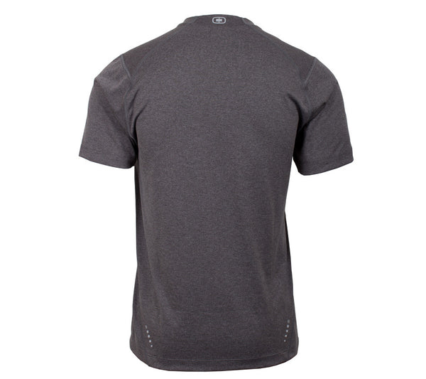 Run Seattle Run Skyline - Gray - Men's Short Sleeve Tech Shirt back