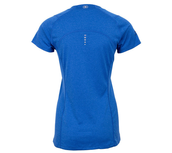 Run Seattle Run Skyline - Royal Blue - Women's Short Sleeve Tech Top back