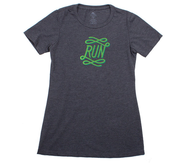 Runfinity - Charcoal T - Women's Short Sleeve T-shirt Front