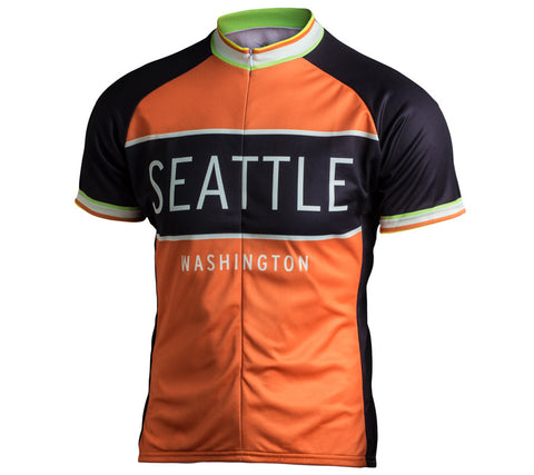 Kaidel Sportswear - Seattle Classic Racer Cycling Jersey - Men's Orange - front 1