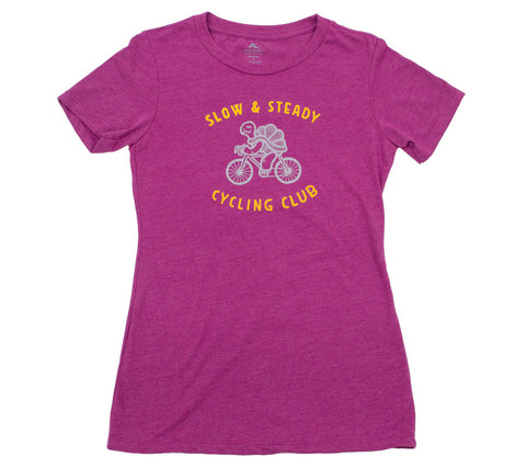 Slow & Steady Cycling Club - Lush T - Women's Short Sleeve T-shirt - front