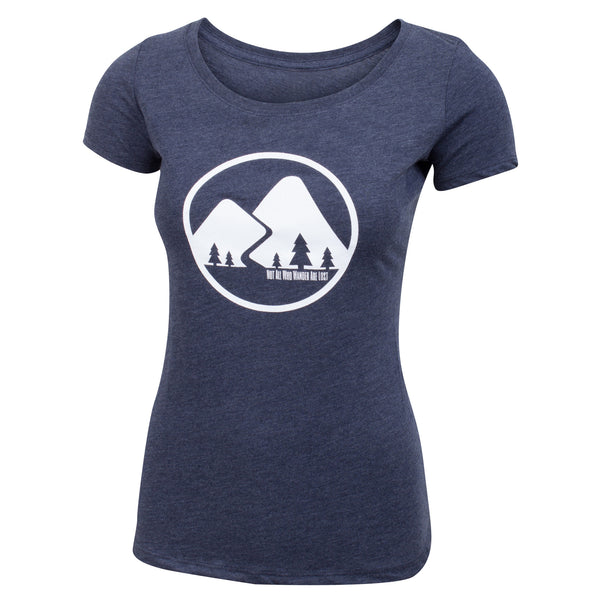Not All Who Wander Are Lost - Navy Blue - Women's Triblend Scoop Short Sleeve T-shirt - front 1