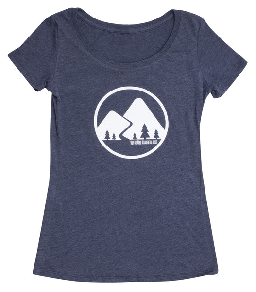 Not All Who Wander Are Lost - Navy Blue - Women's Triblend Scoop Short Sleeve T-shirt - front 2