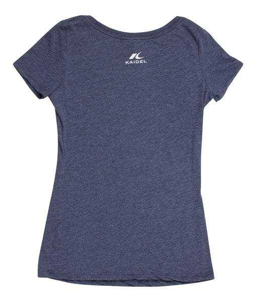 Not All Who Wander Are Lost - Navy Blue - Women's Triblend Scoop Short Sleeve T-shirt - back 2