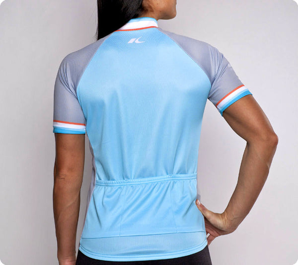 Tacoma Classic Racer Cycling Jersey Womens Light Blue back