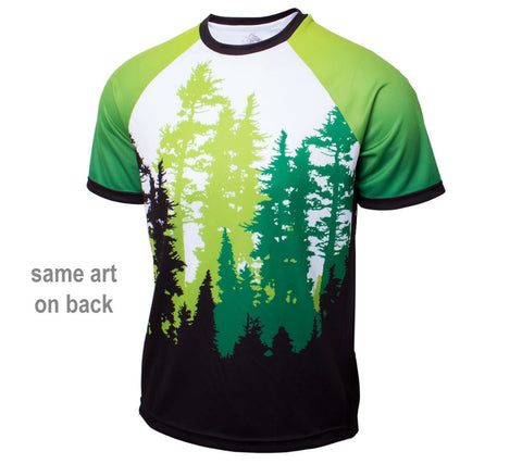 Green Trees Trail Running - Men's Short Sleeve Shirt - front