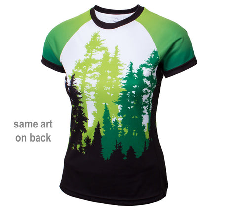 Green Trees Trail Running - Women's Short Sleeve Top - front