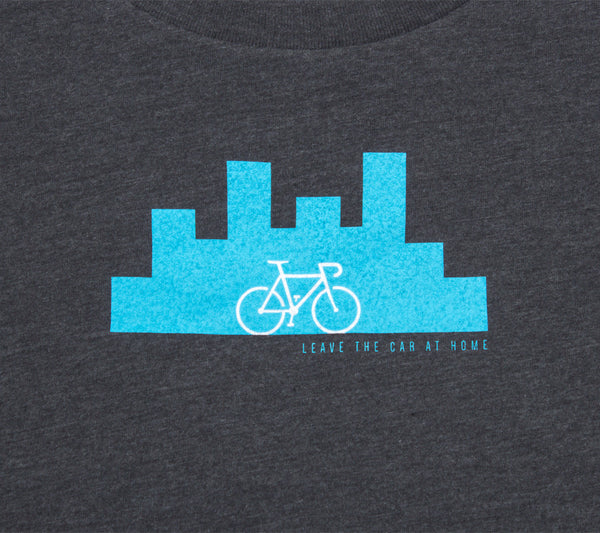 Urban Bike Commuter - Charcoal T - Women's Short Sleeve T-shirt - closeup