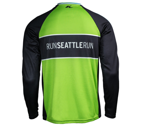 Victory Green - Run Seattle Run - Men's Long Sleeve Shirt back