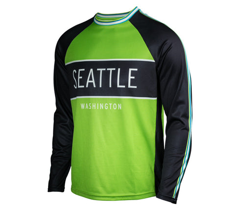 Victory Green - Run Seattle Run - Men's Long Sleeve Shirt front