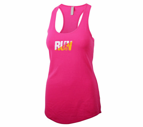 Fun Run - Raspberry Tank - Women's Terry Racerback Tank Front