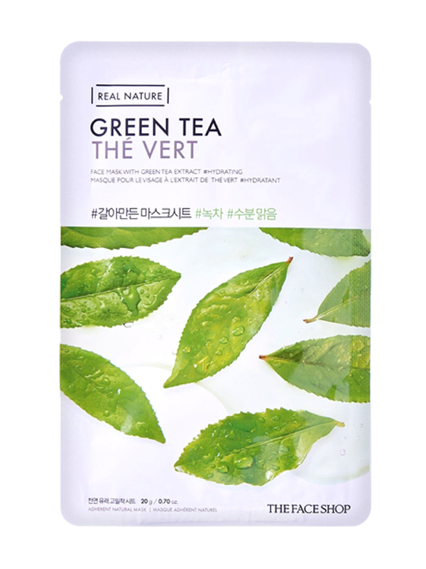 Real Nature Green Tea Sheet Mask