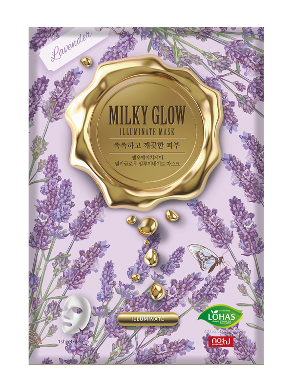 Milky Glow Illuminating Lavender Sheet Mask