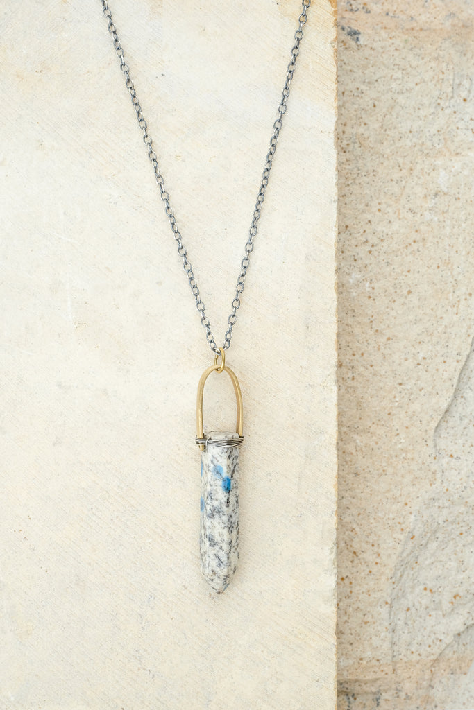 K2 Jasper Point Necklace