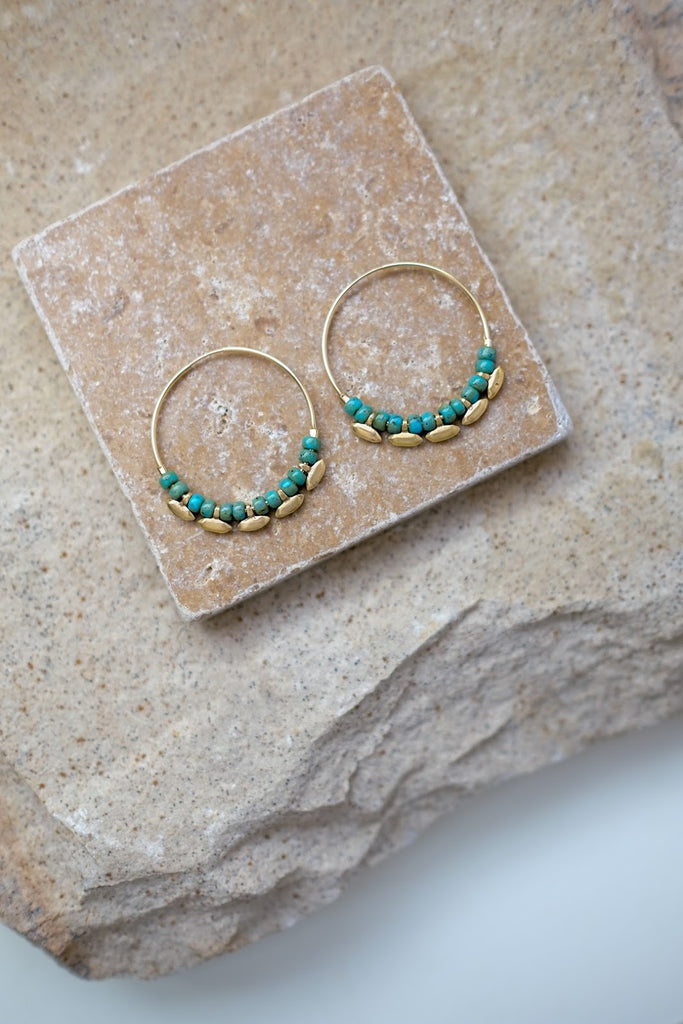 Madison Hoops Turquoise
