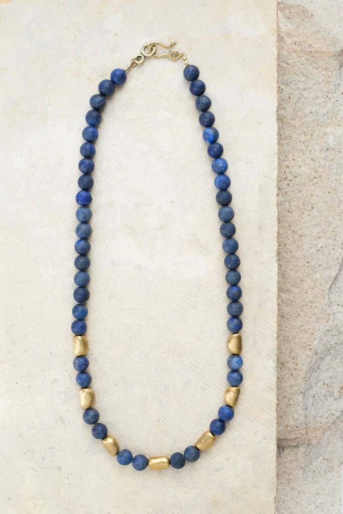 Petite Pebble Necklace Lapis