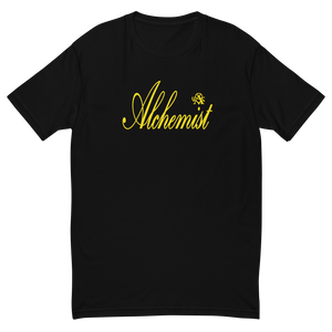 Alchemist Scripted Yellow Font - Next Level Tee