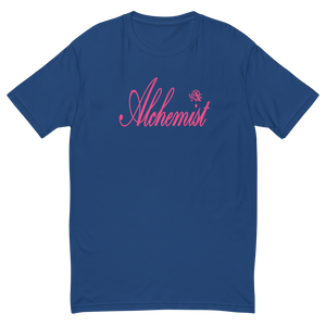 Alchemist Scripted Pink Font - Next Level Tee