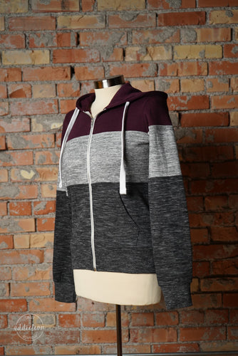 Cozy Nights Colorblock Jacket [Plum]