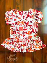 Load image into Gallery viewer, Find My Stride Baby Doll Top [Red Floral]