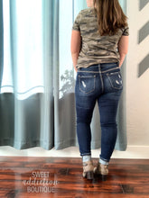 Load image into Gallery viewer, Get Your Shine On KanCan Distressed Jeans [Button Fly]