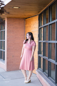 Keep it Classy Wrap Dress [Light Brick]